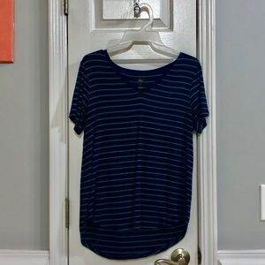 Dip Navy and Green Stripped Shirt, small